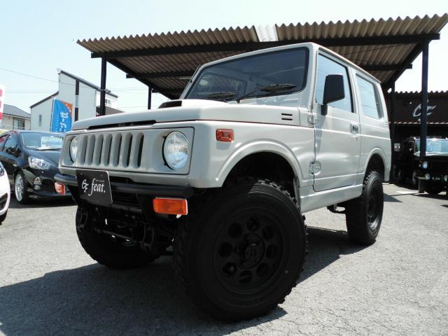 ジムニーバン 4WD ベージュオールペイント リフトアップ公認